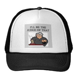 JUDGE joke Trucker Hat
