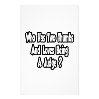 Judge Joke...Two Thumbs Customized Stationery