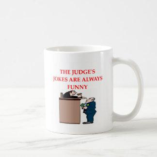 judge jokes coffee mug