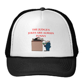 judge jokes trucker hat