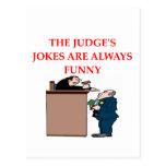 judge jokes postcard