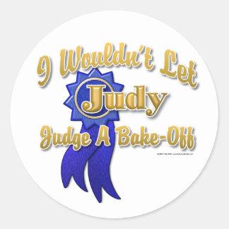 Judge Judy Bake-Off Round Stickers