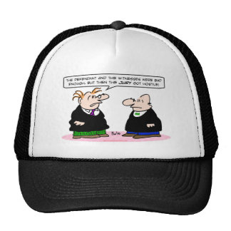 judge jury got hostile witnesses defendant trucker hat