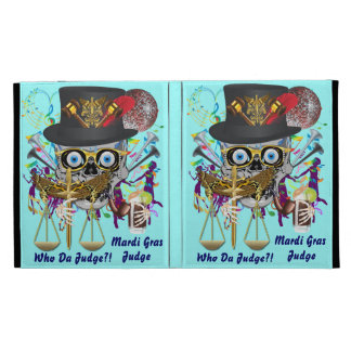 Judge Mardi Gras 30 colors Important view notes iPad Case
