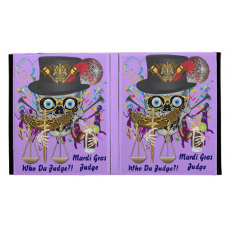 Judge Mardi Gras 30 colors Important view notes iPad Folio Cases