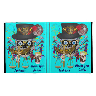 Judge Mardi Gras 30 colors Important view notes iPad Folio Cover