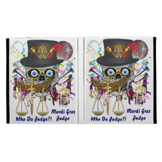 Judge Mardi Gras 30 colors Important view notes iPad Folio Covers