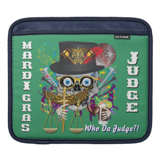 Judge Mardi Gras 30 colors Important view notes iPad Sleeve
