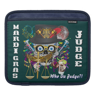 Judge Mardi Gras 30 colors Important view notes iPad Sleeve