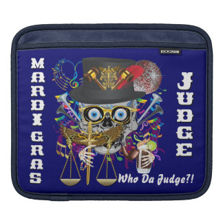 Judge Mardi Gras 30 colors Important view notes Sleeve For iPads