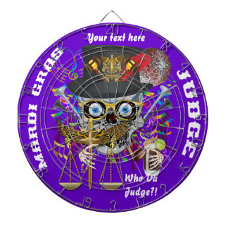 Judge Mardi Gras Important Instructions view notes Dart Boards