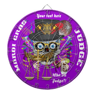 Judge Mardi Gras Important Instructions view notes Dartboard With Darts
