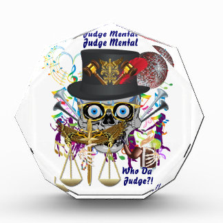 Judge Mardi Gras Important view notes Acrylic Award