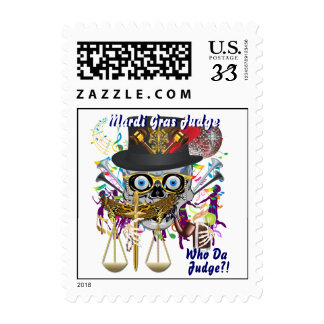 Judge Mardi Gras Important view notes Stamp