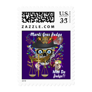 Judge Mardi Gras Important view notes Postage Stamp