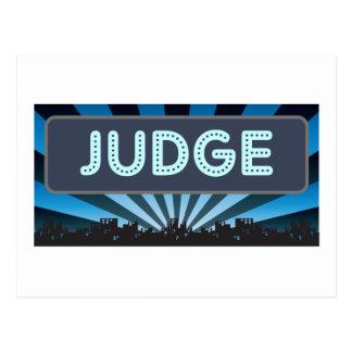Judge Marquee Postcard