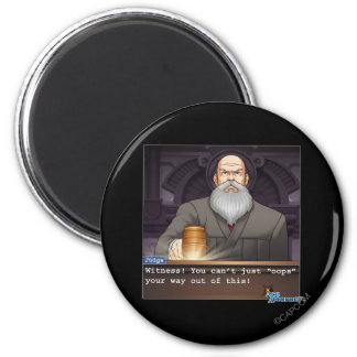 "Judge - ""Oops"" 2 Inch Round Magnet"