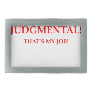 judge rectangular belt buckle