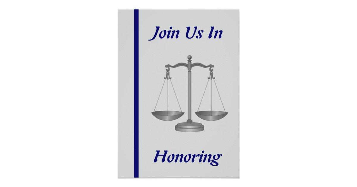 Judge Retirement Invitation Zazzle