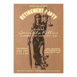 Judge Retirement Party Invitation | Lady Justice