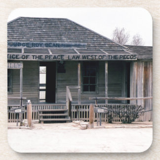 Judge Roy Bean Courthouse and Jail Replica Beverage Coaster