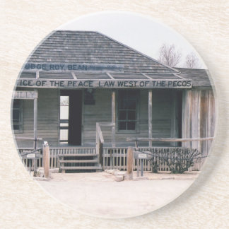 Judge Roy Bean Courthouse and Jail Replica Sandstone Coaster