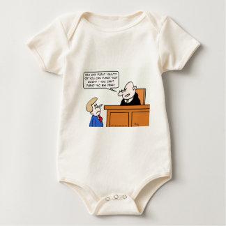 "Judge says guy can't plead ""no big deal."" baby bodysuit"