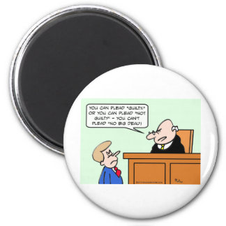 """Judge says guy can't plead """"no big deal."""" 2 inch round magnet"""