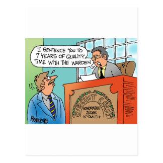Judge scolding an executive defendant postcard