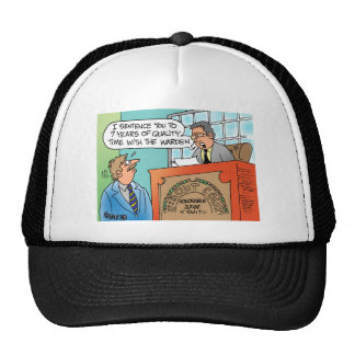 Judge scolding an executive defendant trucker hat