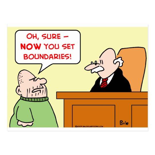 judge set boundaries postcard