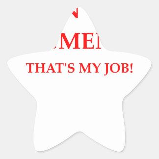 judge star sticker