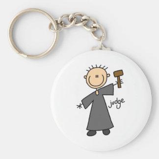Judge Stick Figure Basic Round Button Keychain