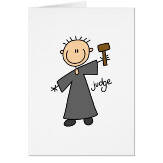Judge Stick Figure Card