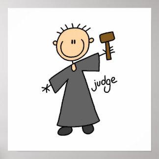 Judge Stick Figure Poster