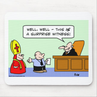 judge surprise witness mouse pad