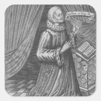 Judge Thomas Littleton, 1628 Square Stickers
