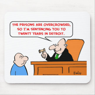 judge twenty years detroit mouse pad