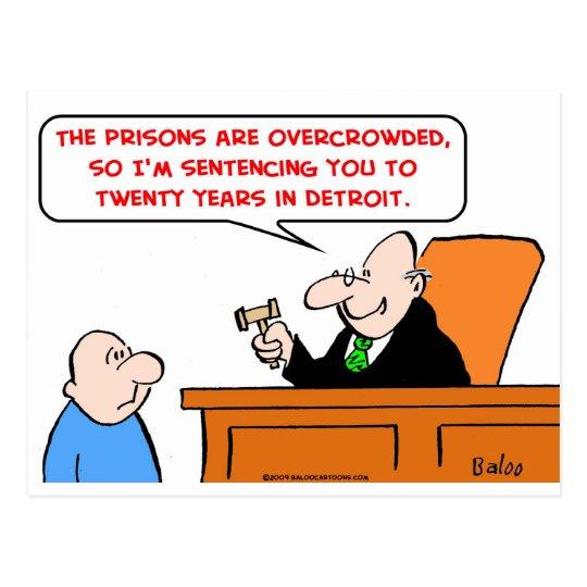 judge twenty years detroit postcard