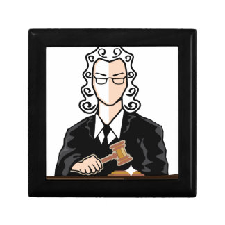 Judge vector persona jewelry box