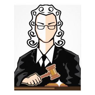 Judge vector persona letterhead