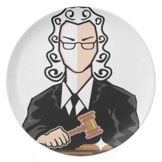 Judge vector persona plate