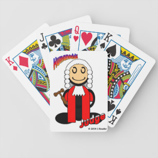 Judge (with logos) bicycle playing cards