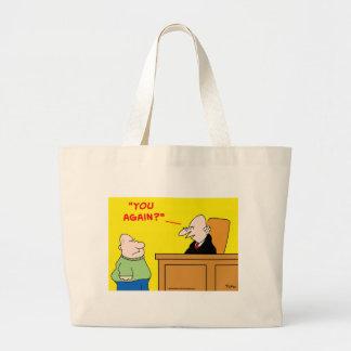 judge you again tote bag