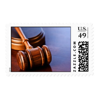 Judgement and gavel postage