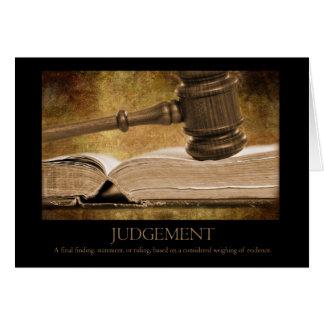 Judgement Card
