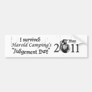 Judgement Day Bumper Sticker Car Bumper Sticker