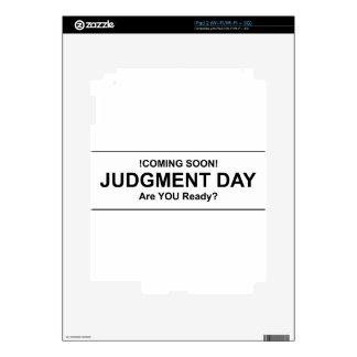 Judgement Day iPad 2 Skins