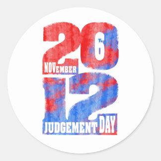 Judgement Day Round Sticker