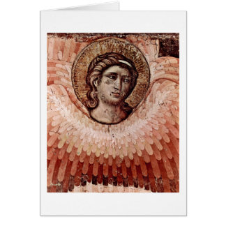Judgement Detail: Angel By Pietro Cavallini Greeting Card